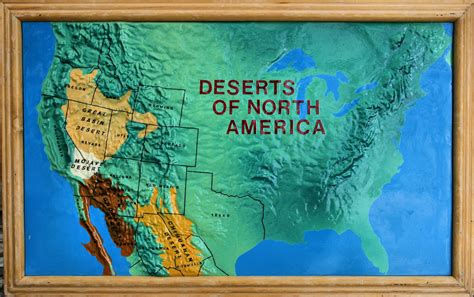 Deserts of North America   This was a map that was on