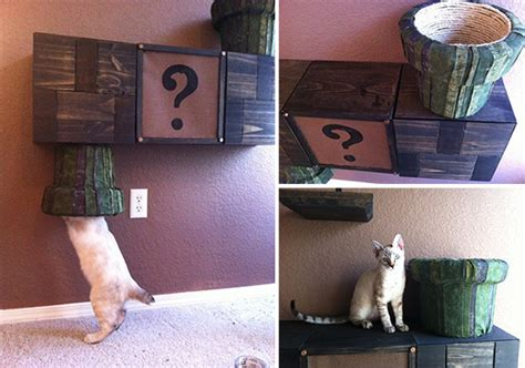 Mario Cat Shelf mario brothers cat complex other awesome cat furniture from catastrophicreations
