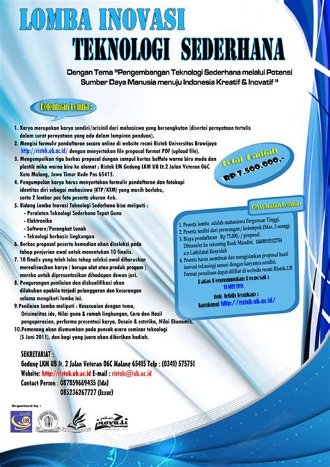 membuat proposal lomba welcome in my blog 187 lomba inovasi teknologi sederhana