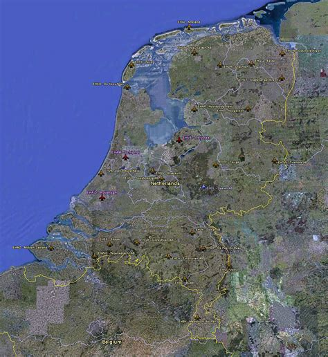netherlands large map large satellite map of netherlands with airports
