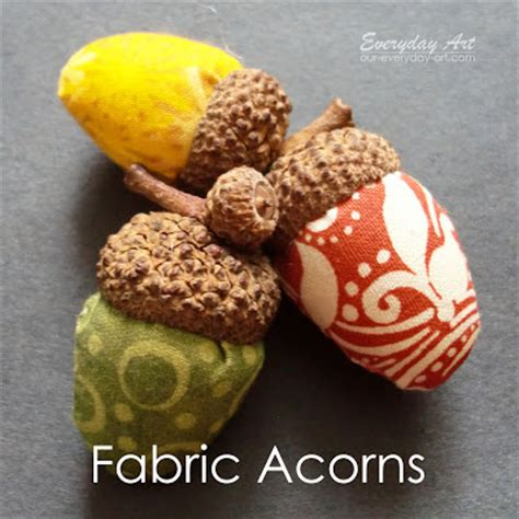 cute fall autumn acorn nut pattern christmas ornaments fabric acorns sewing tutorial allcrafts free crafts update