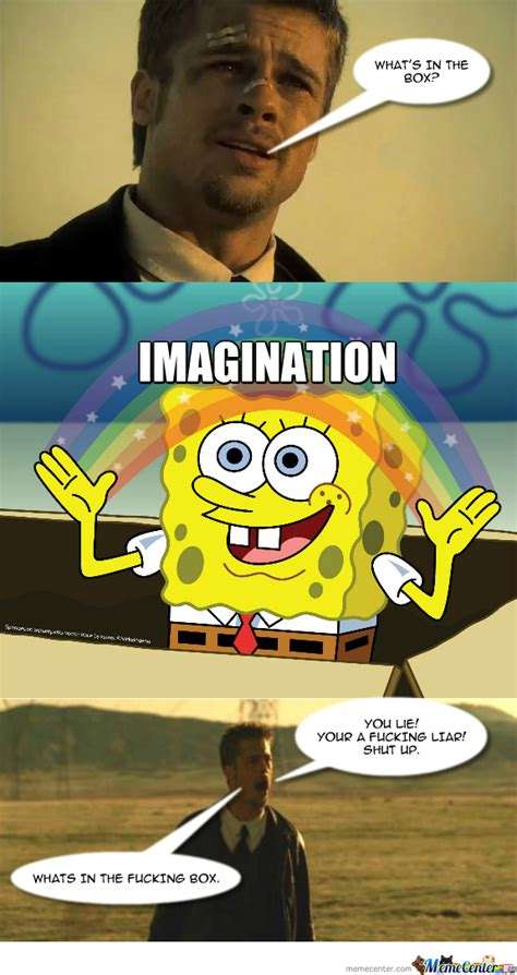 Whats In The Box Meme - what s in the box spongebob by recyclebin meme center