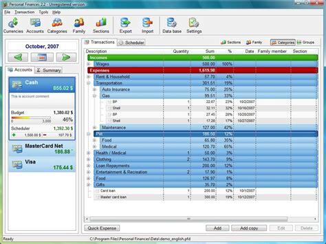 home accounting program version free software
