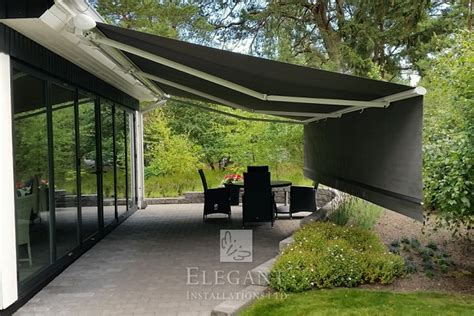 drop down awnings patio awnings with drop down valance front screens