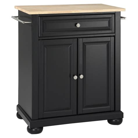 kitchen islands and carts furniture alexandria wood top portable kitchen island