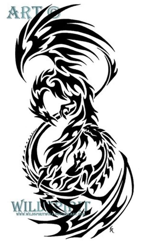 Triball phoenix   Design Tattoo