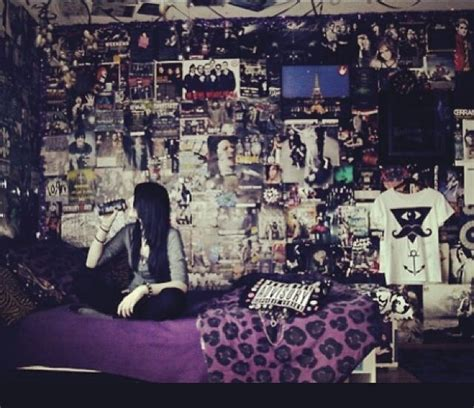 bedroom band walls covered in band posters