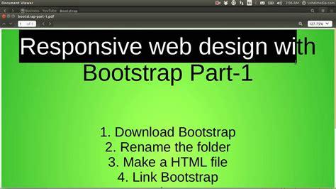 design html bootstrap bootstrap template design class 1 youtube
