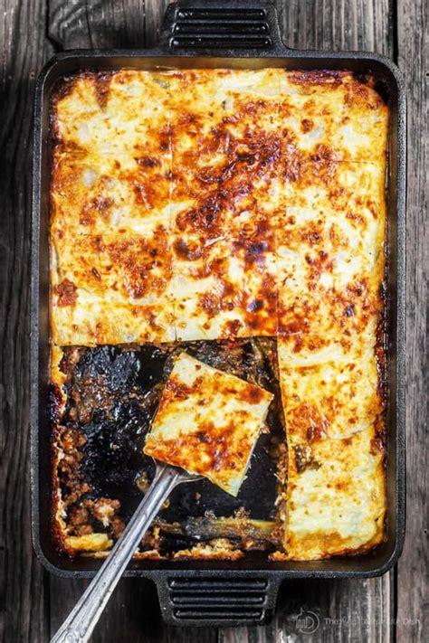 moussaka recipe eggplant casserole  mediterranean dish