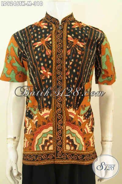 desain baju batik untuk orang pendek hem batik koko kerah shanghai mewah non furing model