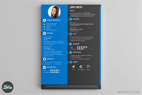 Sample Of One Page Resume by Cv Maker Professional Cv Examples Online Cv Builder
