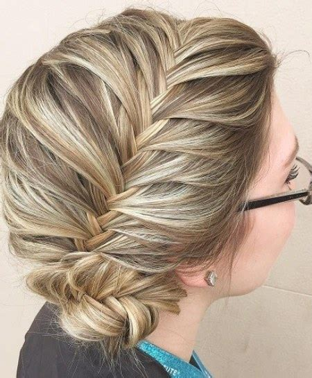 Low Side Bun Hairstyles by Side Braided Low Bun Hairstyles