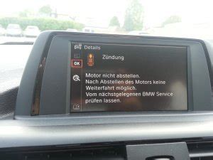 Bmw 1er Antrieb Fehler by Fehler Quot Z 252 Ndung Quot Motor L 228 Sst Sich Nicht Starten Bmw 1er