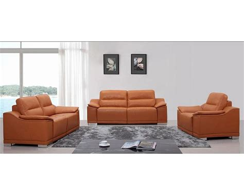modern orange couch modern orange leather sofa set 44l5607