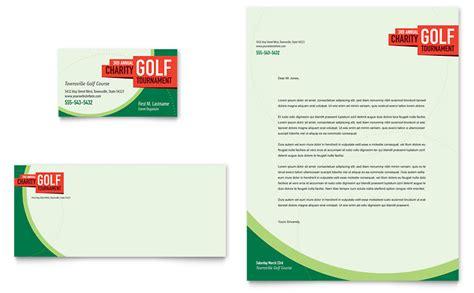 Golf Cart Tournament Cards Template by Golf Tournament Business Card Letterhead Template Word