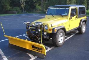 Snow Plow For A Jeep Wrangler Smith Brothers Services 2006 Jeep Wrangler Unlimited