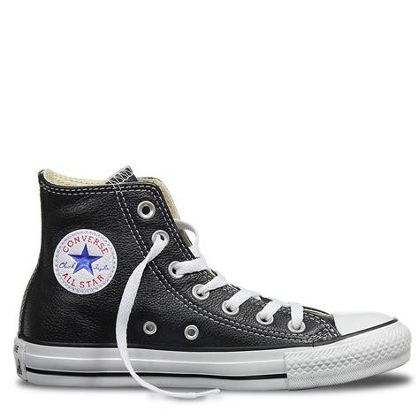 Converse Shoes High Black converse black leather high tops www pixshark