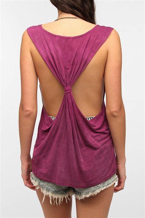 diy cut shirt sleeves more t shirt ideas cut sleeves tie in back clothing tutorials bandeaus