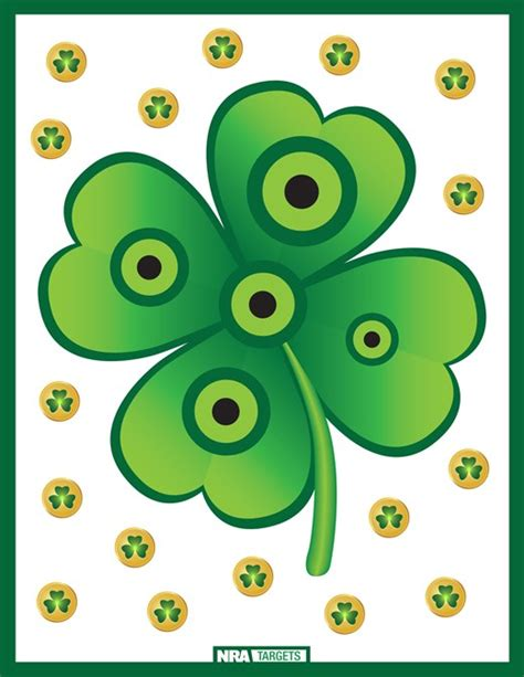 printable centerfire rifle targets free downloadable lucky targets for st patrick s day