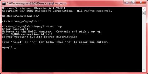 membuat database mysql menggunakan command prompt dede anggriawan membuat database menggunakan mysql