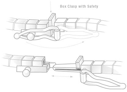 Box Clasp with Safety