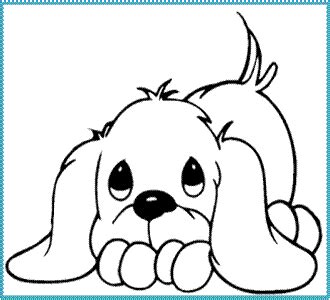 imagenes bonitas para colorear de perritos dibujo de perrito tierno imagenes especiales de amor
