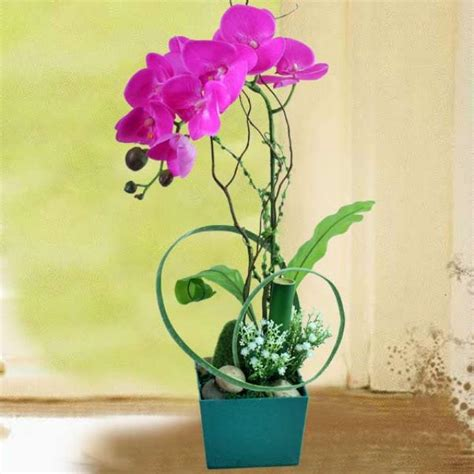 Grand Phalaenopsis Orchid Artificial Flower Arrangement Artificial Flowers Table Arrangement Delivery