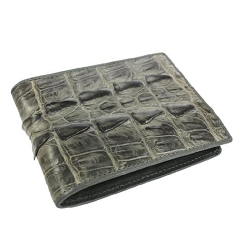 Fossil Croco Wallet L vodux s authentic crocodile leather bifold wallet one