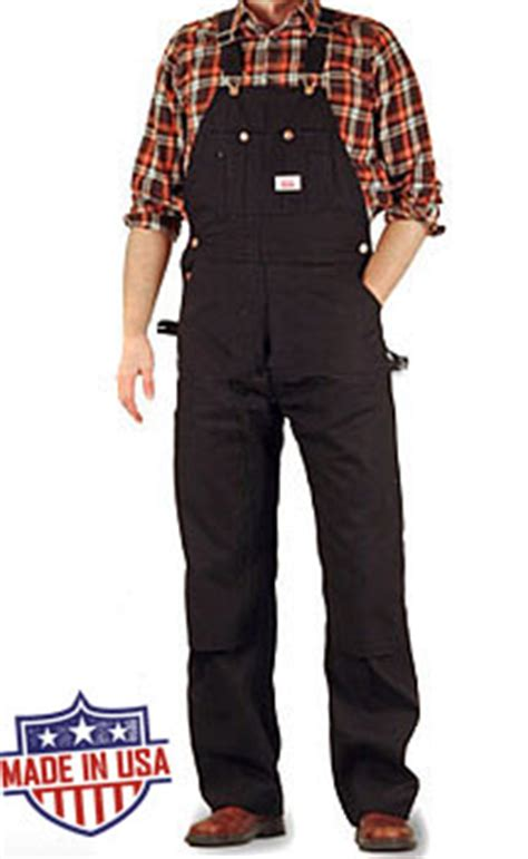 House Overalls by House American Made Heavy Duty Duck Overalls Black