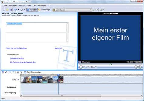 tutorial windows movie maker deutsch windows movie maker download free