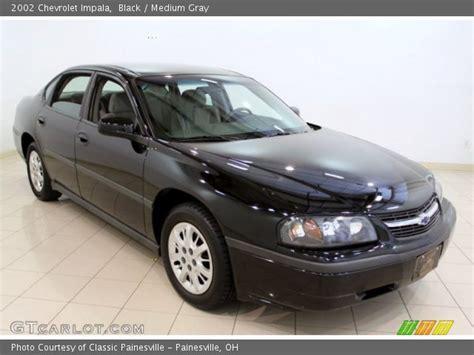 2002 chevy impala black black 2002 chevrolet impala medium gray interior