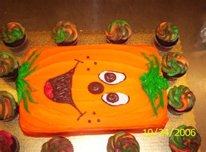 How To Decorate Halloween Cakes Gallery For Gt Halloween Sheet Cake Decorating Ideas