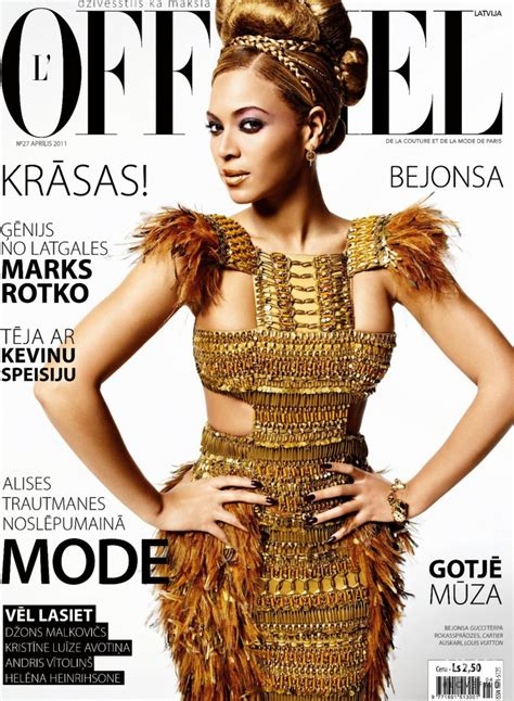 Beyonce On The Cover Of by Cover Of L Officiel Latvia With Beyonce Knowles April