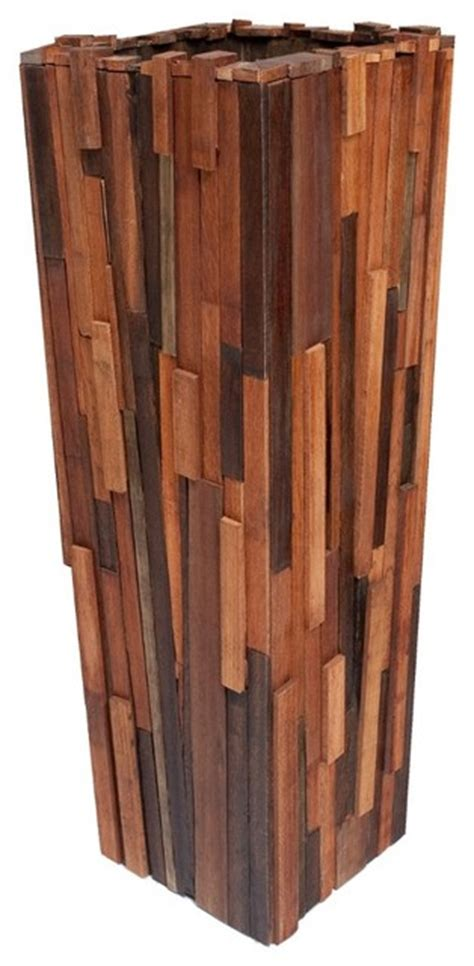 indoor wood planter salvaged wood planter tall contemporary indoor pots