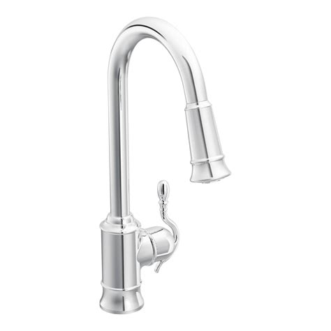 one kitchen faucet moen woodmere single handle single kitchen faucet