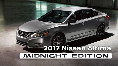 nissan altima 2017 black edition 2017 nissan altima midnight edition youtube