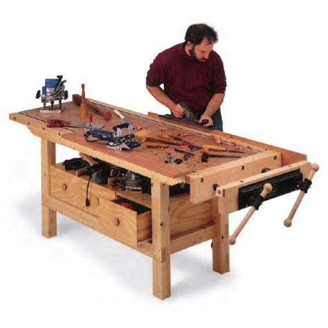 ted woodworking budget workbench downloadable plan a well workshop and
