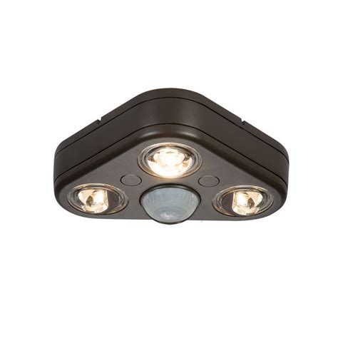 All Pro Revolve 270 Degree Bronze Motion Activated Outdoor Motion Activated Led Outdoor Light