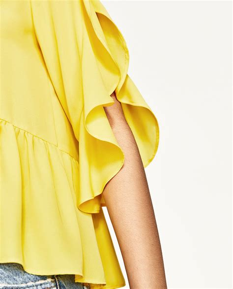 Frilled Sleeve Top frilled sleeve top new in zara united states