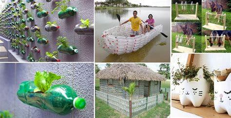 cool ways  reuse plastic bottles home design