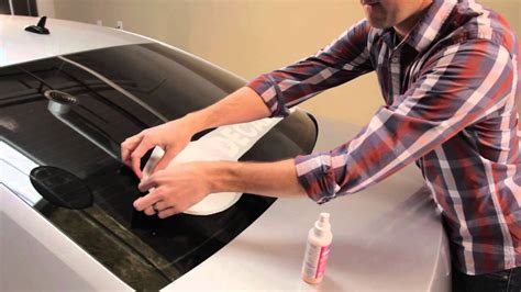 How To Apply Vinyl Stickers To Car Window