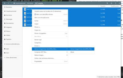 seleccionar varias imagenes libreoffice extraer im 225 genes de un documento de libreoffice en ubuntu