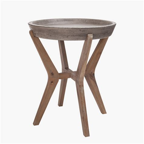 Concrete Side Table Tulu Concrete Top Side Table Shop Accent Tables Dear Keaton