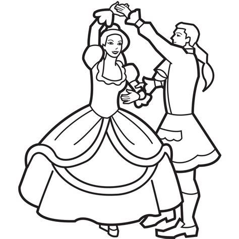 dancing princess coloring book clipart panda
