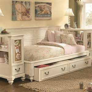 With storage retreat twin daybed bookcase ends and underbed storage