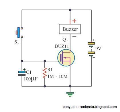 capacitor delay calculator simple dc timer using mosfet on after delay easy electronics