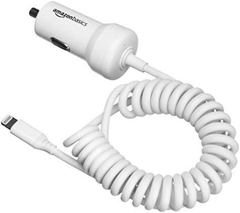 Amazonbasics Cable Lightning by Amazonbasics Coiled Cable Lightning Car Charger 5v 12w