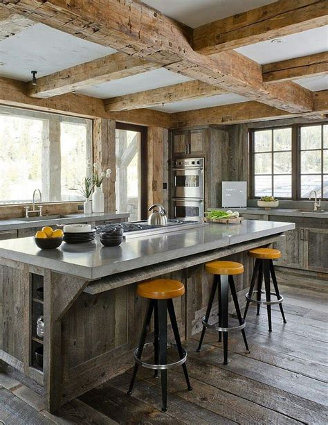 rustic modern kitchen ideas modern rustic cottage kitchen design pinterest