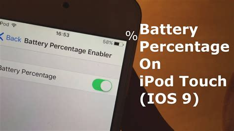 battery percentage  ipod touch ios  youtube