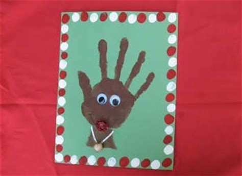 handprint footprint reindeer crafts for kids fun